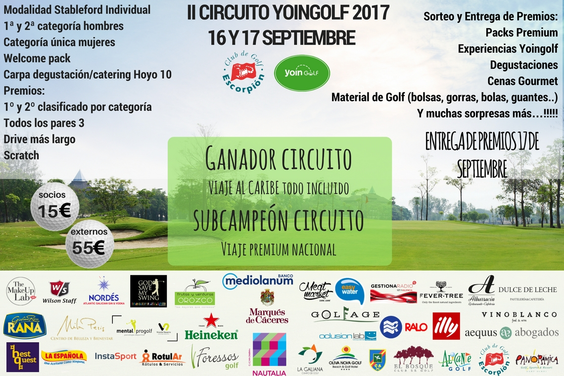 Circuito Yoingolf : Grupo de trabajo del comité técnico amateur femenino u2013 temporada 2017 18